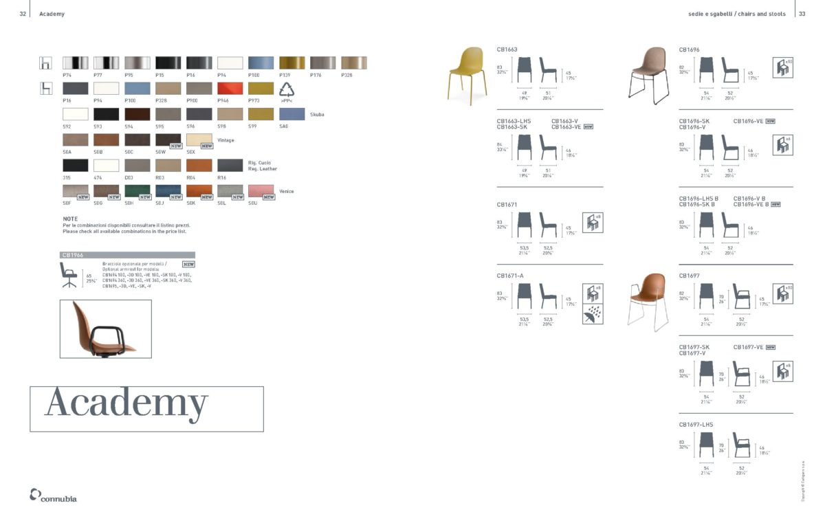 ACADEMY 1 1200x764 - Scaun Academy (Connubia)