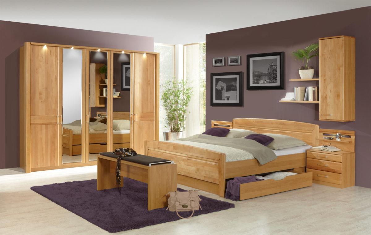 LAUSANNE bear 09 02 11 mDTS250cm3Spt Bett mit SK 1200x760 - Dulap Lausanne (Wiemann)