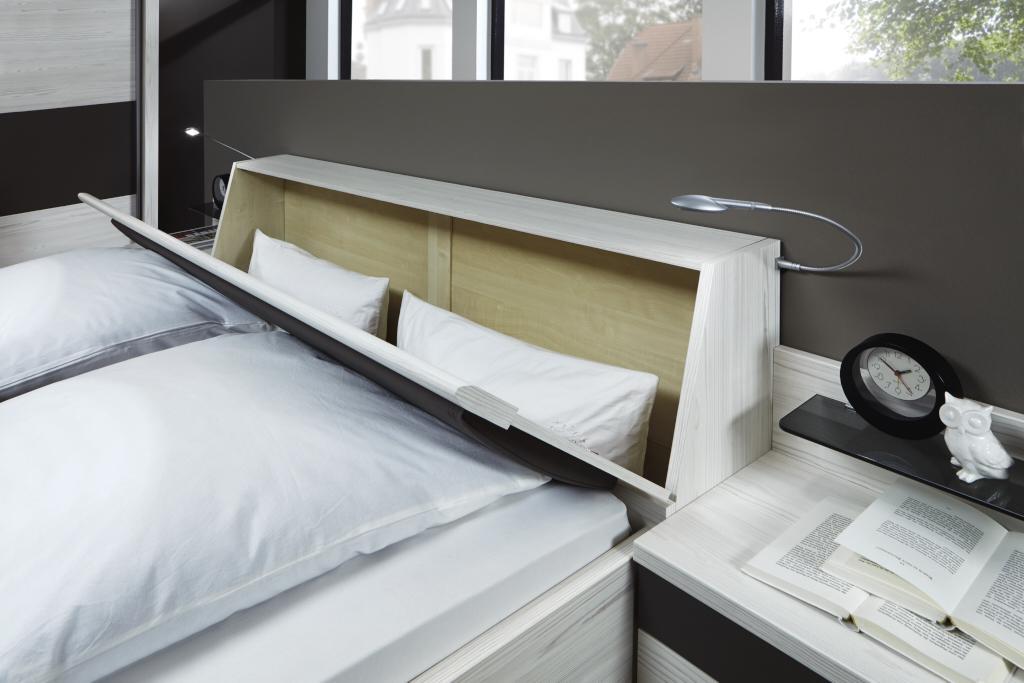 LISSABON 23735 13 geoeffneter Bettkasten im Kopfteil - Dormitor Lissabon (Wiemann)