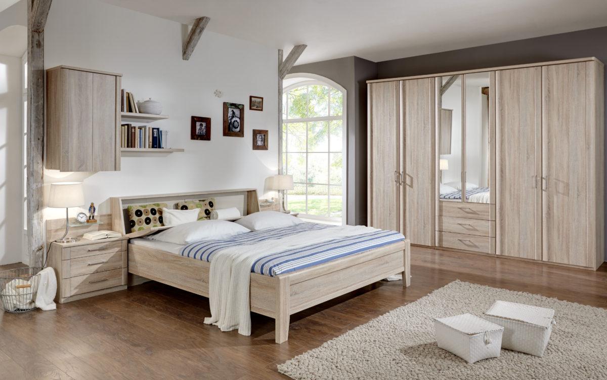LUXOR4 bearMW 7961 14 Eiche saegerauNB mFuDTS300cm2Spt. Bettkasten i.Kopfteil geoeffnet 1200x751 - Dormitor Luxor3&4 (Wiemann)