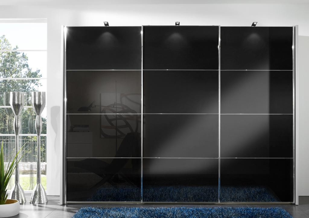 MIAMI2 6246 11 SWT300cmFront Glas graphit mPower LED Aufbauleuchten - Dulap Miami +  (Wiemann)