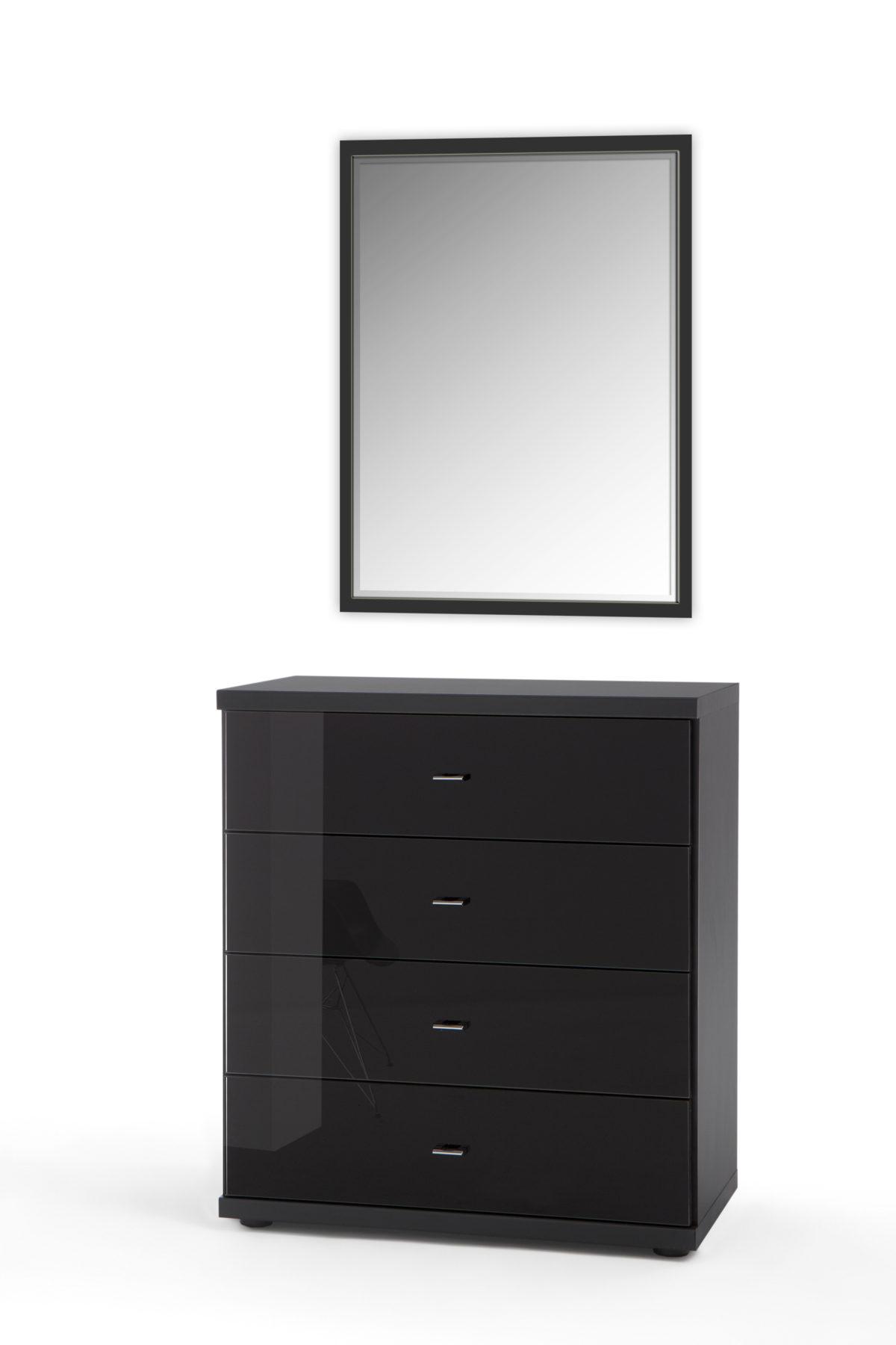 MIRO 7714 12 schwarz Glas schwarz Wandspiegel 1200x1800 - Comodă Miro (Wiemann)