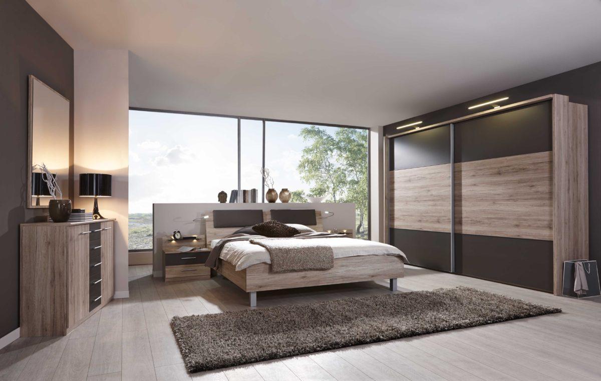 PORTLAND Santana EicheNBAbs.Havanna D. mSWT300cm Beimoebel 1200x760 - Dormitor  Portland (Wiemann)