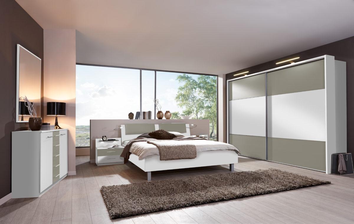 PORTLAND bearCH WeißAbs.Kieselgrau D.. mSWT300cm Beimoebel 1200x760 - Dormitor  Portland (Wiemann)