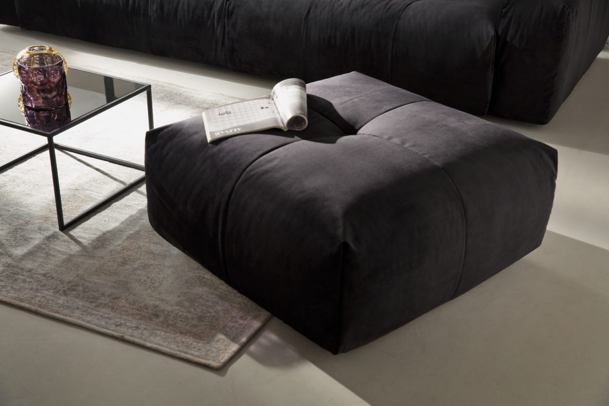 Place Hocker Velvet black 1200x800 - Canapea Place (Candy Polstermoebel)