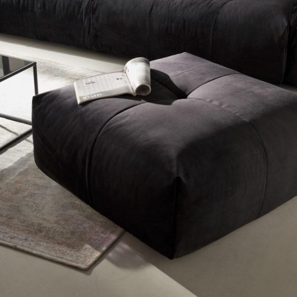 Place Hocker Velvet black 600x600 - Canapea Place (Candy Polstermoebel)