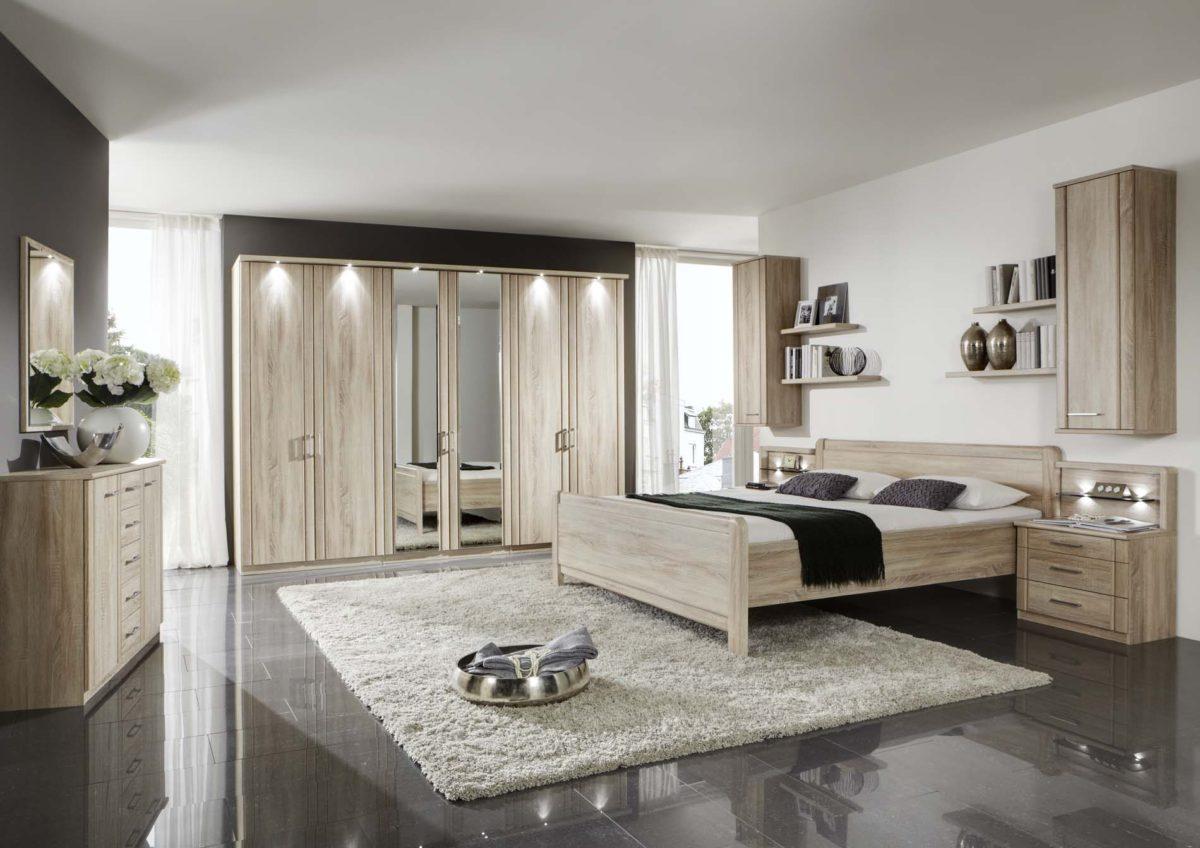VALENCIA 20275 12 Eiche saegerauNB Bett OHNE SK DTS300cm2Spt Beimoebel 1200x848 - Dormitor Valencia (Wiemann)
