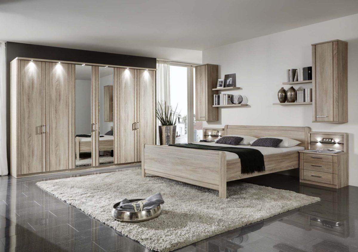 VALENCIA 20276 12 Eiche saegerauNB Bett OHNE SK DTS300cm2Spt 1200x848 - Dormitor Valencia (Wiemann)
