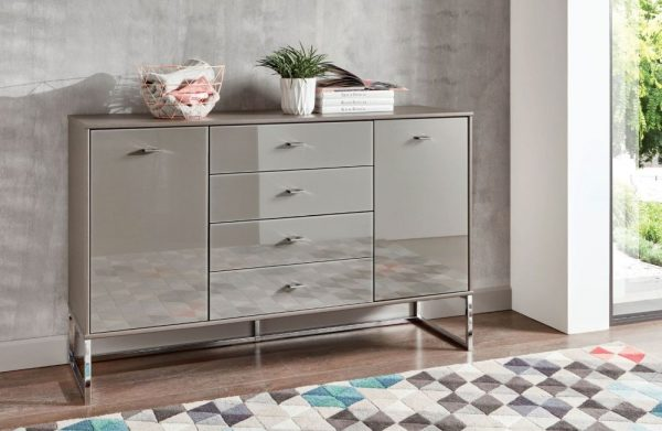Wiemann Kansas 2 Drawer Narrow Bedside Cabinet in Havana Glass H 43cm 600x391 - Comodă Kansas (Wiemann)