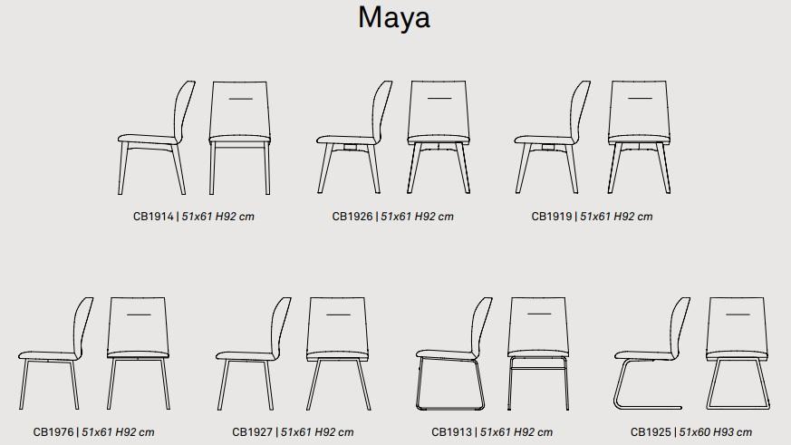sxzcda - Scaun Maya CONNUBIA (CB/1926)