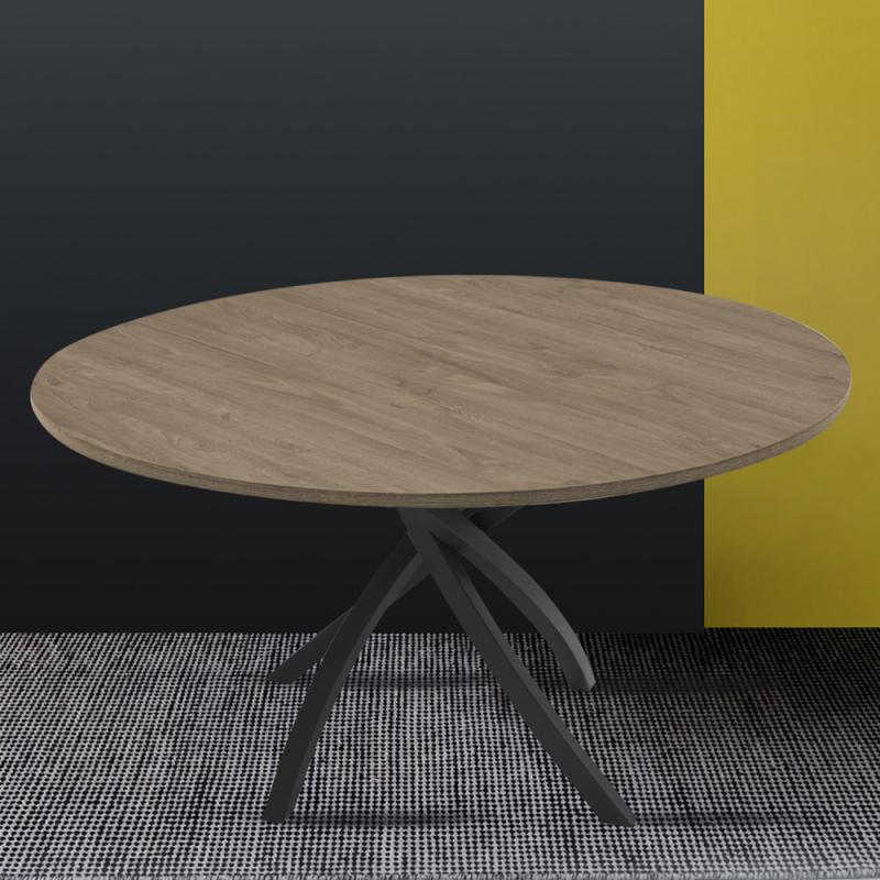 twister cb4782 rd 120 round wood veneer table by connubia calligaris italy 2 - Masa Twister (Connubia)
