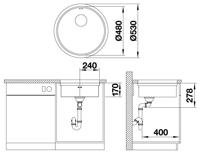 523017 1 - BLANCO Chiuveta Ronis-U CNK InFino fără accesorii (523017)