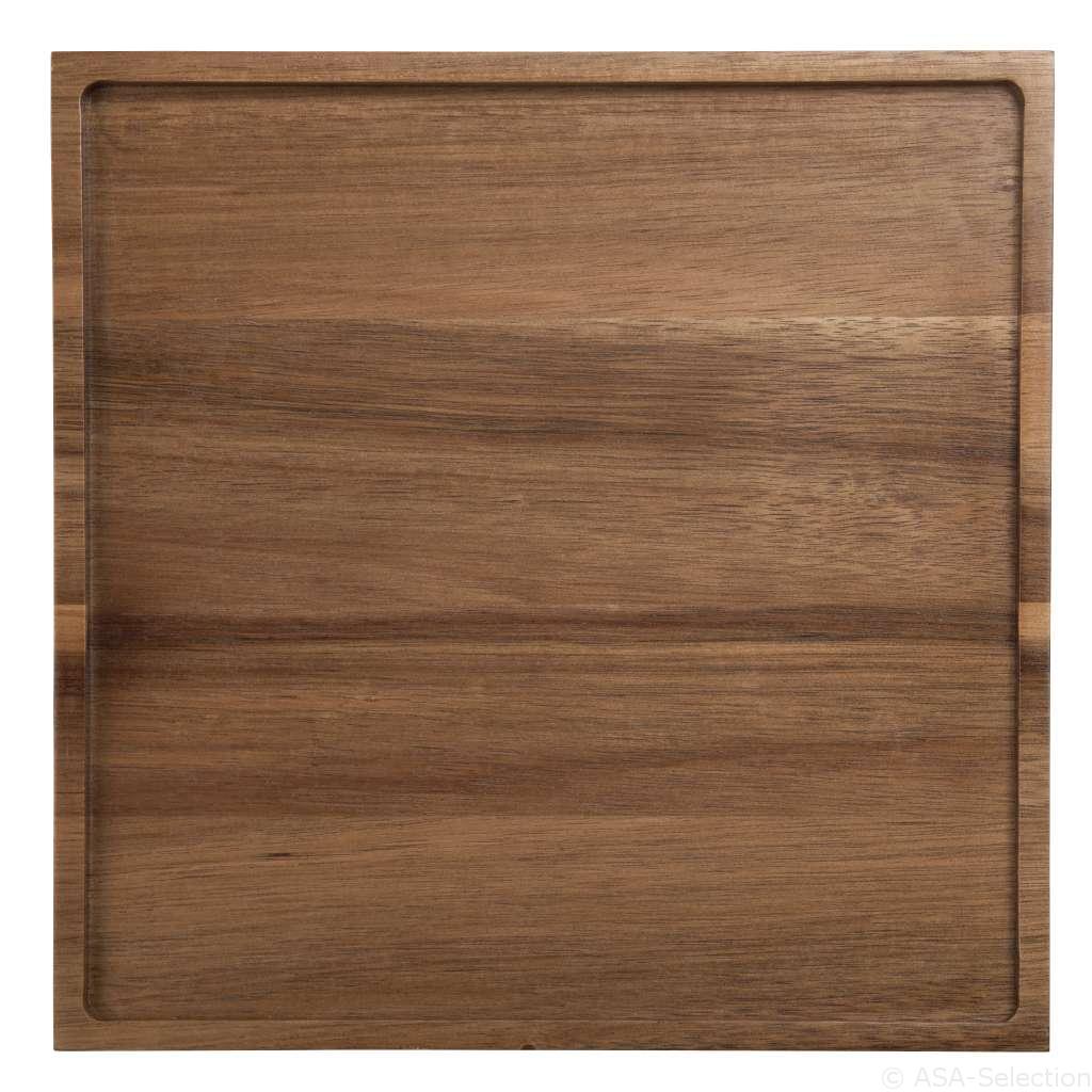 93801970 holztabletts tabletop - Tavă din lemn pătrată (93801970)