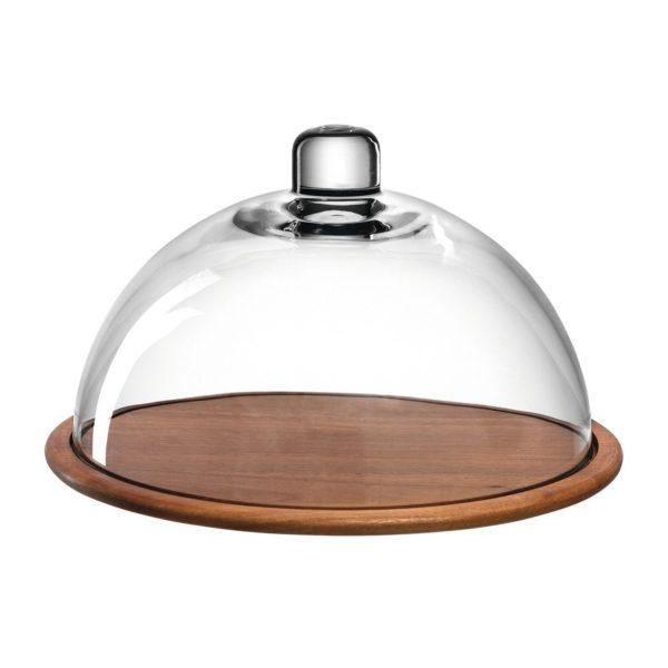 018519 0 k 2 600x600 - Placă de lemn pentru cașcaval cu capac de sticlă Cucina (L018519)