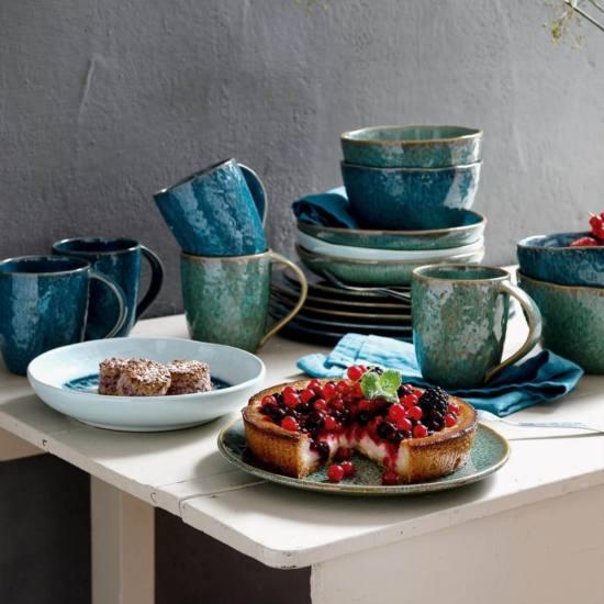 018539 Leonardo Matera keramia desszertes reggelizo tanyer 23cm zold 3 2 - Cana ceramică Matera blue (L018548)
