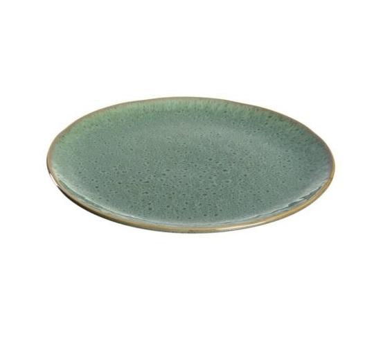 018542 Leonardo Matera keramia lapostanyer 27cm zold 1 - Farfurie ceramică Matera green 27 cm (L018542)