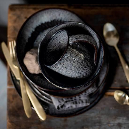 018555 Leonardo Matera keramia desszertes reggelizo tanyer 23cm szurke 3 - Cana ceramică Matera grey (L018563)