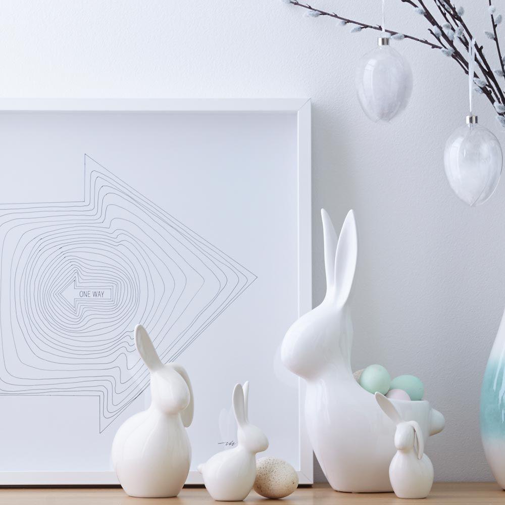024574 5 k - Statueta Bunny Speedy white 14 cm (L024574)
