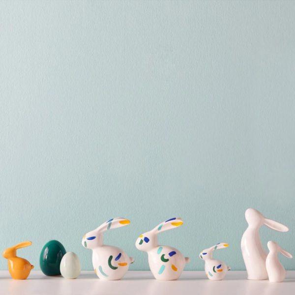 031621 1 k 1 600x600 - Statueta Bunny Speedy colorful 19 cm (L031622)