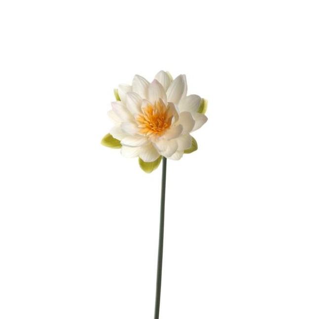 031696 Leonardo Fiore vizililiom 75cm 1 - Floare decorativă Water liliy 75 cm (L031696)