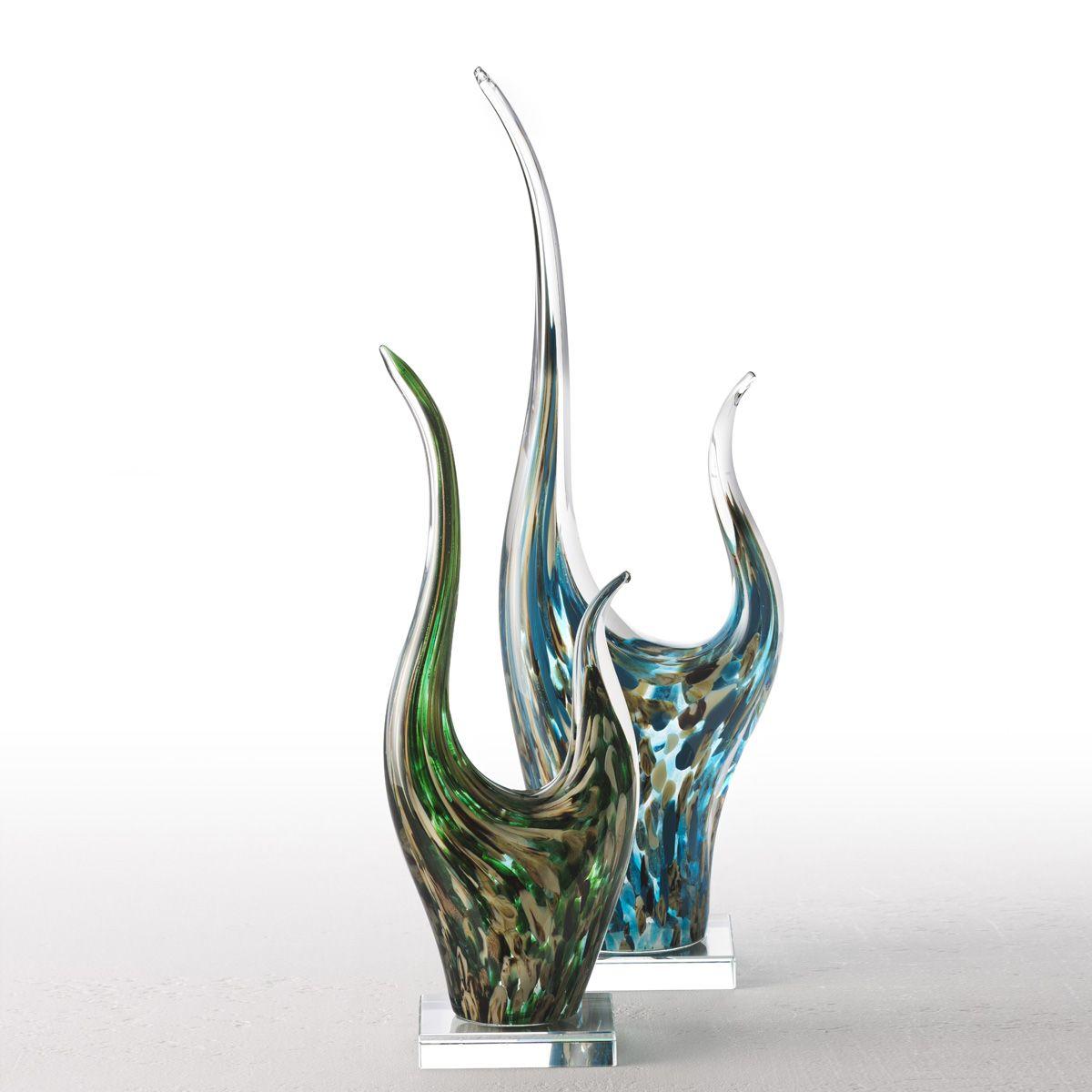 034875 5 k - Statueta decorativă Impulso turquoise 50 cm (L034877)