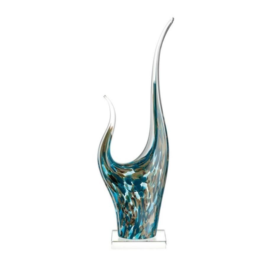 034877 Leonardo Impulso szobor 50cm turkiz 1 - Statueta decorativă Impulso turquoise 50 cm (L034877)