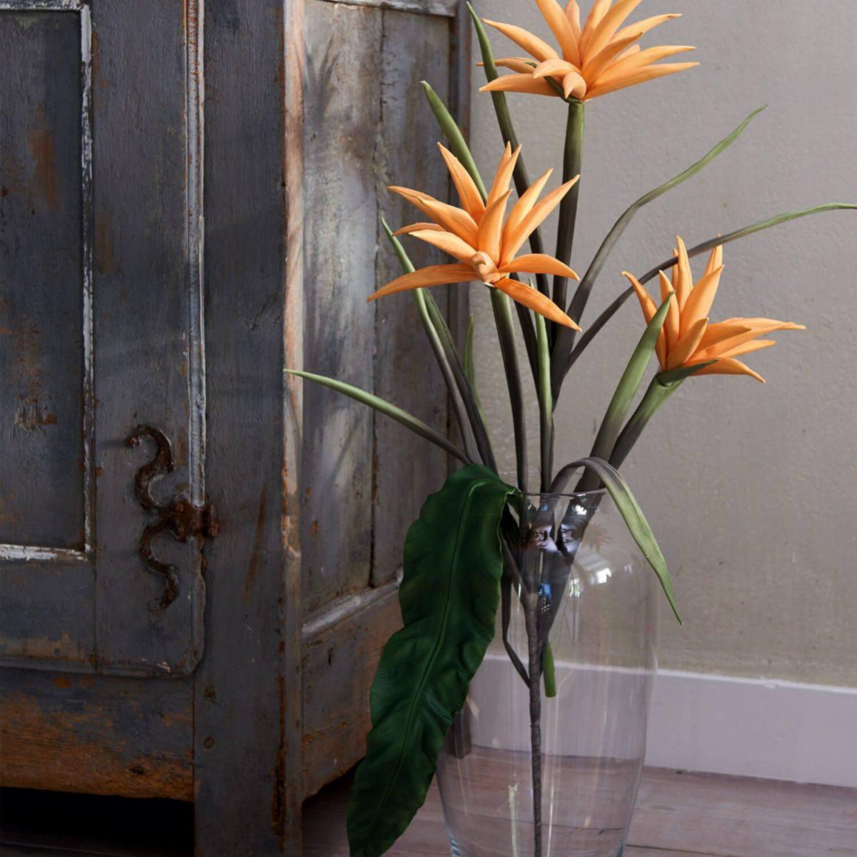 038518 1 k 1 1200x1200 - Floare decorativă Cotton orange 105 cm (L038518)
