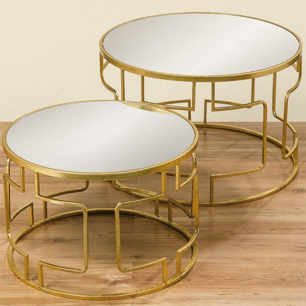09049291 92 Boltze Messing Coffeetables Gold 1 600x600 - Set din două masuțe de cafea Sydney (1007947)
