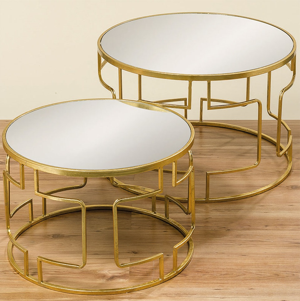 09049291 92 Boltze Messing Coffeetables Gold 1 - Măsuță de cafea Sydney (1007947)