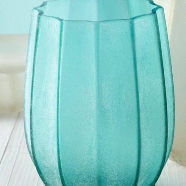 2017 AL MARE Vase 024434 WL 024431 024432 H NEU 1 l 600x600 - Vaza decorativă Ferrara turquoise 21 cm (L024431)