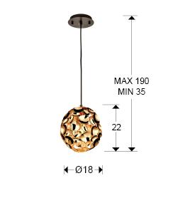 266035N - Lustră Narisa (266035N)