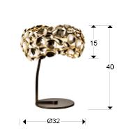266544 - Lampă de masă Narisa (266544)