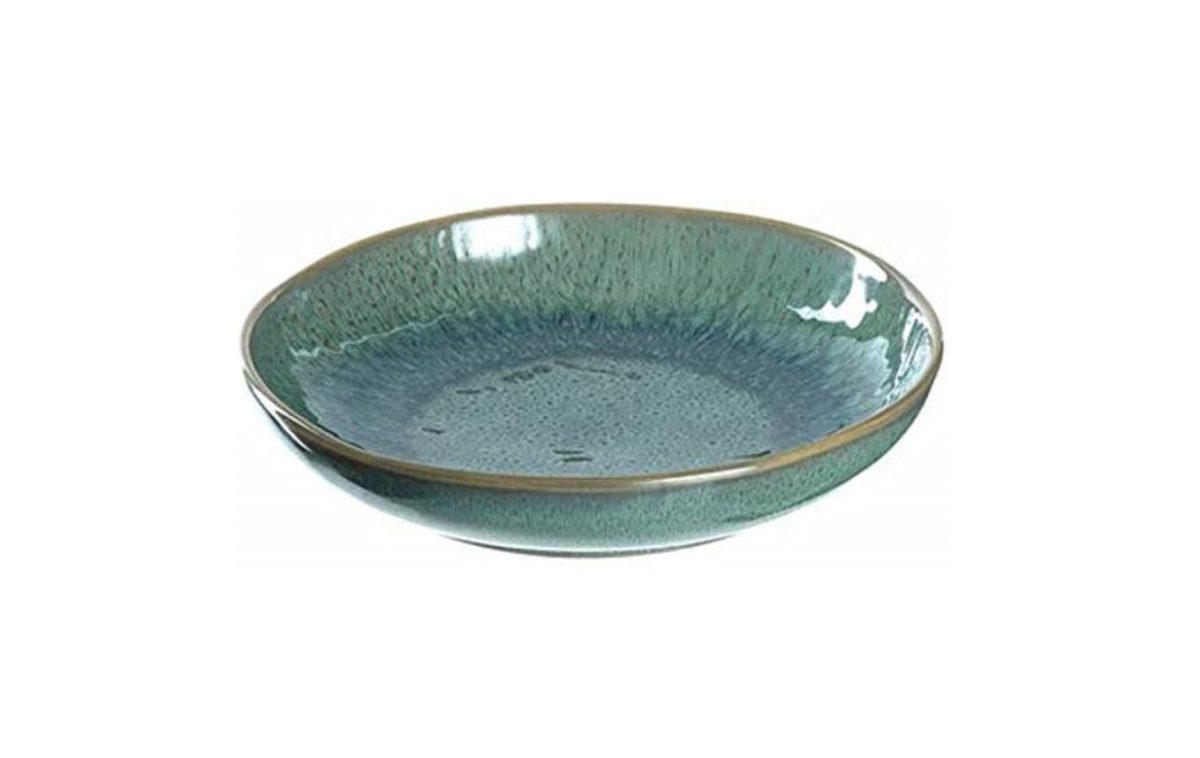 51 xcik5AL. AC SY450  1 1200x758 - Farfurie ceramică deep Matera green 21 cm (L018541)