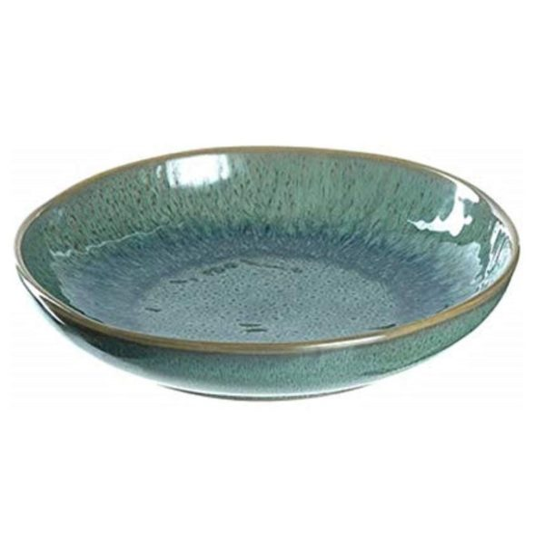 51 xcik5AL. AC SY450  1 600x600 - Farfurie ceramică deep Matera green 21 cm (L018541)
