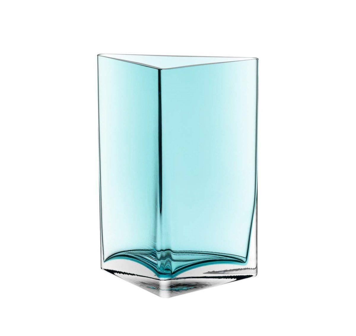 51QmpBwQqOL. SL1053  1200x1132 - Vază decorativă triunghiulară Centro turquoise 23 cm (L046951)