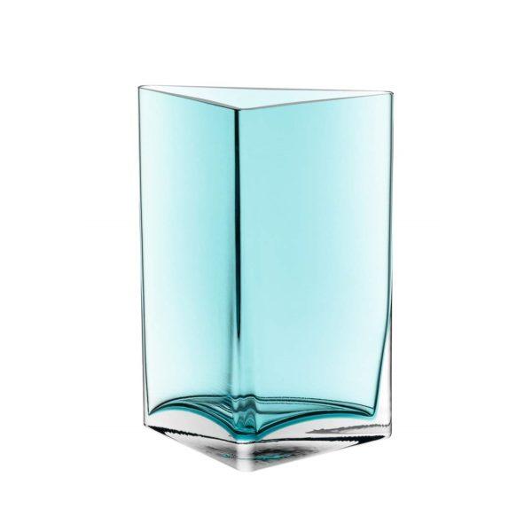 51QmpBwQqOL. SL1053  600x600 - Vază decorativă triunghiulară Centro turquoise 23 cm (L046951)
