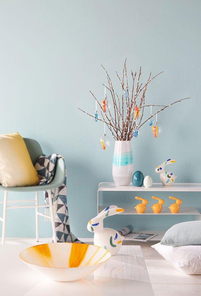 61iiqxHhqNL. SL1000  - Vază decoratiă Arte white/turquoise 35 cm (L031650)