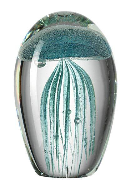 71knB1oqZ L. SY606  - Statuetă decorativă Jellyfish Oceano turquoise (L026023)