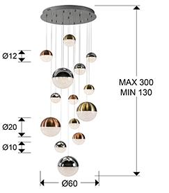 793258D - Lustră Sphere (793258D)