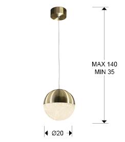 793407 - Lustră Sphere (793407)