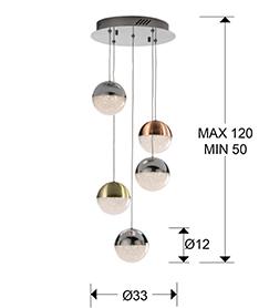 793534D - Lustră Sphere (793534D)