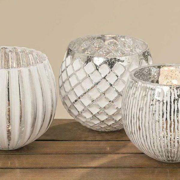 BOLTZE Windlicht Ainara 3 sort H Material Glas 600x600 - Suport pentru lumânări Ainara alb (1005607)