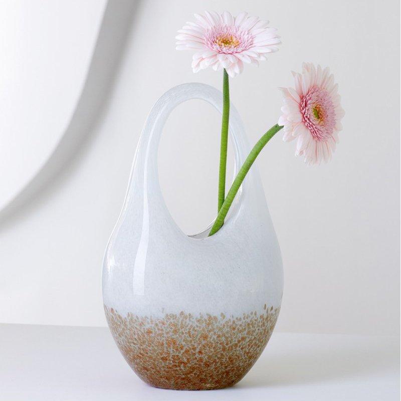 DD fyhXW0AAHtbg - Vază decorativă GB/Glass bag white/bro (L031522)