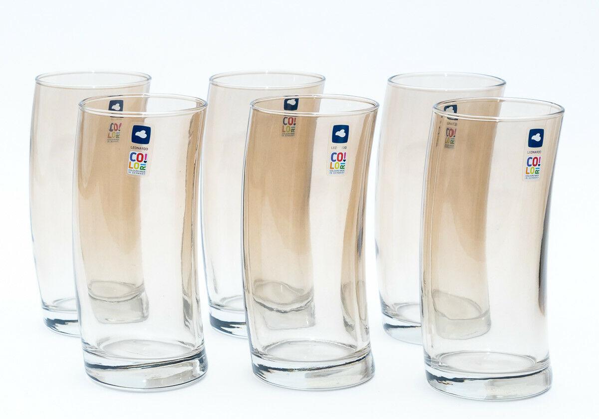 LEONARDO Leonardo 018022 Swing 1 Cristal Vaso De Trago Largo Gafas Cocktail Color 1433583530 - Pahar Marrone Swing (L018022)