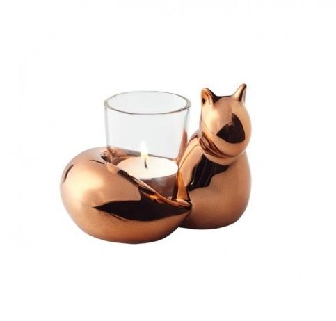 Leonardo 014965 16cm Eichh rnchen Edy mit Tischlicht Glas Herbstdeko 600x600 - Suport pentru lumânare veverița (L014965)