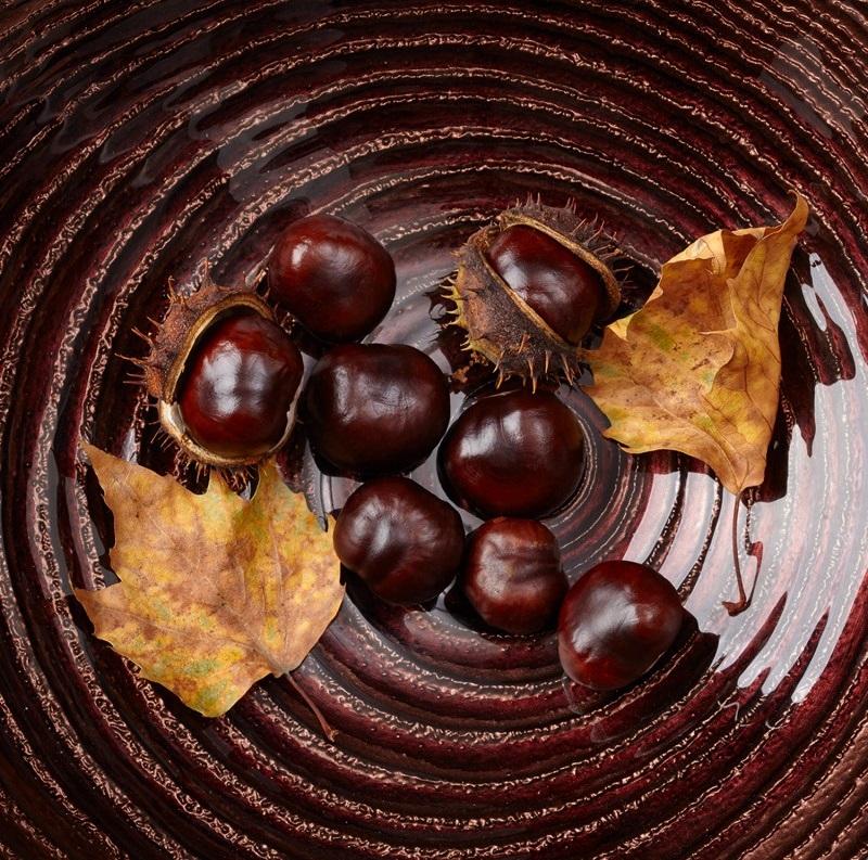 Leonardo 063983 Schale Glasschale Castagna Dekoschale Obstschale - Bol Castagna brown 32 cm (L063983)