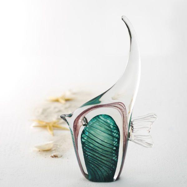 Leonardo Glasfisch tuerkis Oceano N 002.xxl3  600x600 - Statuetă decorativă Fish Oceano turquoise (L034871)