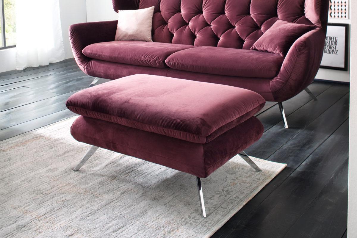 Sixty Hocker Velvet purple 1200x800 - Canapea Sixty 3C Candy Polstermoebel