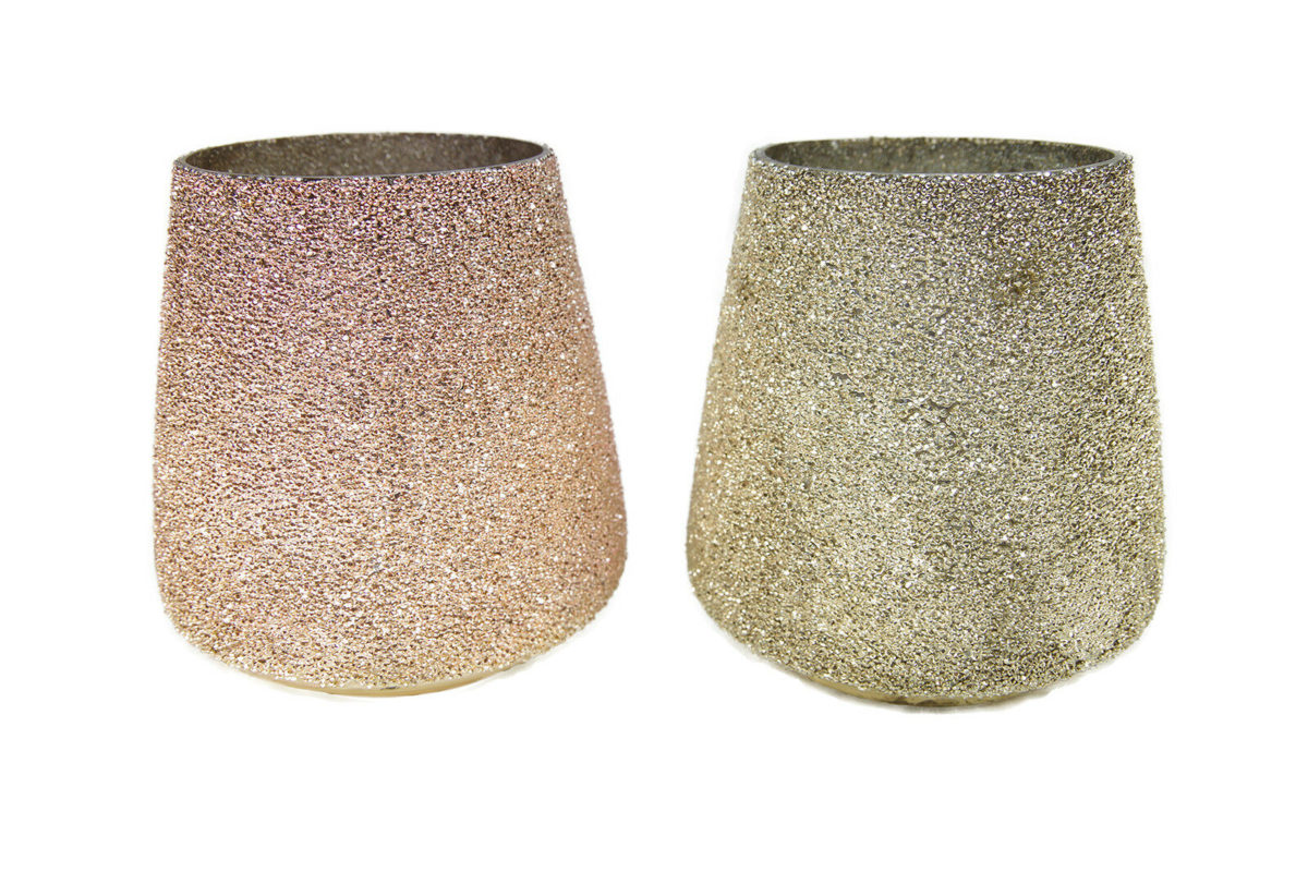 Windlicht Glas Kerzenglas Windlichtglas Tisch Deko rosa silber 1 1200x800 - Suport pentru lumânări Filari 16 cm (1003379)