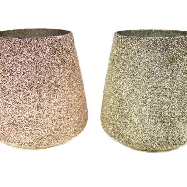 Windlicht Glas Kerzenglas Windlichtglas Tisch Deko rosa silber 1 600x600 - Suport pentru lumânări Filari 16 cm (1003379)